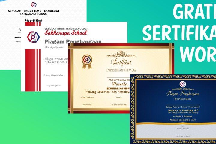 desain sertifikat word dan corel